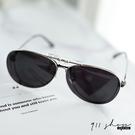 Impish.可掀式金屬框橢圓框夾片抗UV400偏光太陽眼鏡【f5043】911 SHOP