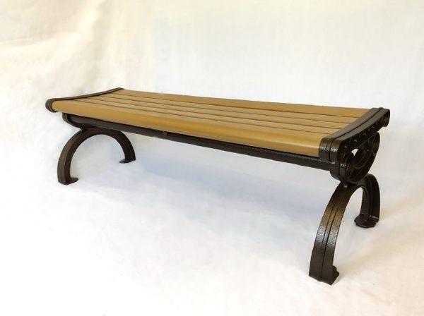 【南洋風休閒傢俱】戶外休閒桌椅系列 - 鋁製塑木公園椅 戶外公園椅 庭院椅 騎樓等待椅(#622)