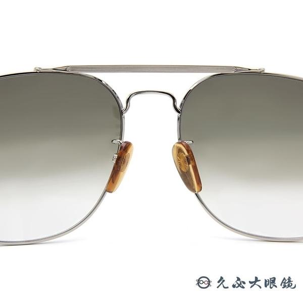 DB EYEWEAR 貝克漢設計品牌 DB 7004S (銀) 復古 雙槓 太陽眼鏡 久必大眼鏡