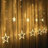led星星窗簾燈小彩燈閃燈串燈滿天星