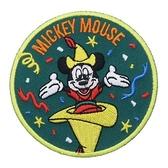 DISNEY 迪士尼米奇90週年紀念系列徽章刺繡熨燙貼布(探險家)★funbox★Small Planet_DP25737