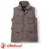 【Wildland 荒野 中性透氣抗UV多口袋背心《深卡灰》】W1705/吸濕快乾/輕薄耐磨/UV30+