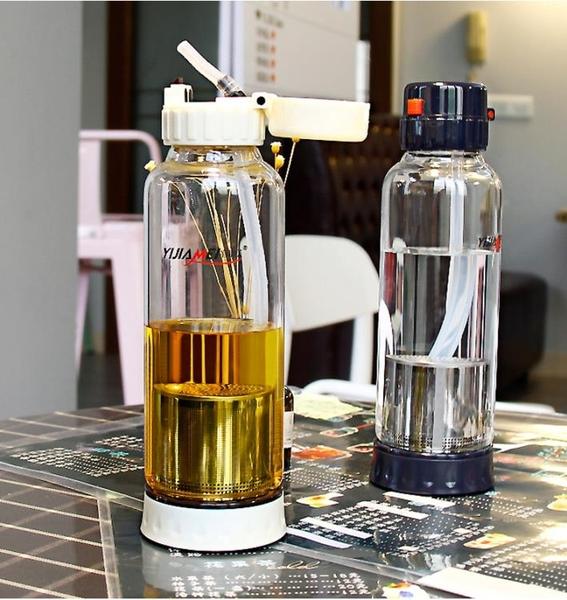 帶吸管水杯成人玻璃孕婦產婦兒童少女心夏季創意便攜防漏泡茶杯子
