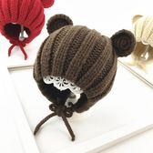 寶寶帽子冬季1-2護耳保暖女童男童針織帽秋冬天兒童毛線帽嬰兒帽 薔薇時尚