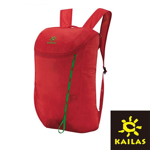 【Kailas】隨行簡約休閒背包18L 紅色/綠色 KA30073A1 登山|露營|休閒|旅遊|戶外
