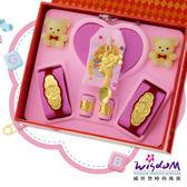 999.9黃金彌月音樂禮盒 聰明鼠湯匙五件組3分-GP00009-11-GXX