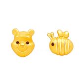 維尼蜜蜂耳環-迪士尼系列金飾-黃金耳環