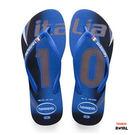 Havaianas 哈瓦士 新竹皇家 世足-義大利 細帶 藍色 拖鞋 女款 NO.H2063