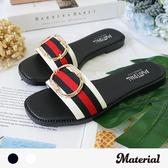 拖鞋 寬帶圓環平底拖鞋 MA女鞋 T52048
