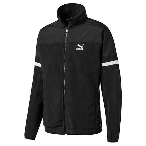 PUMA XTG 立領外套 後 LOGO 黑色 刷毛 口袋 外套 男(布魯克林) 59531801