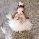 超洋氣女童公主裙小童寶寶一周歲生日禮服嬰兒百天蛋糕洋裝夏裝 怦然心動
