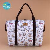 旅行袋 包包 防水包 雨朵小舖 5U162-041 輕量旅行袋-白GOGO柯基02664 輕量款 uma hana