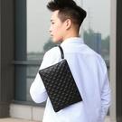 商務手拿包大容量手包 韓版手拿包休閒男生包包 軟皮信封包男士手機包 簡約潮流時尚夾包手抓包