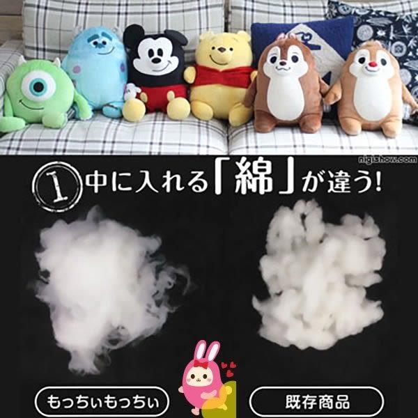 Hamee 日本 迪士尼 Mocchi Mocchi 細緻絨毛 療癒娃娃 玩偶 趴趴造型 抱枕 (屹耳/M) TA21279