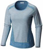 【Columbia】女款抗曬50快排長袖上衣 - 藍 AR2182(BL)