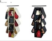 店長推薦 客廳門后牛津布藝鞋子收納掛袋墻掛式多功能免釘鞋架內衣襪整理袋