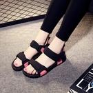 沙灘涼鞋 2020新款夏季羅馬鞋涼鞋女仙女風海邊外穿沙灘鞋學生平底防滑百搭【百搭新款】