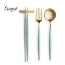 葡萄牙Cutipol GOA系列-蒂芬妮藍金新三件餐具組-叉匙筷