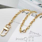 6毫米 淺金色立體O鏈 飾品鏈 裝飾鏈 包包鏈子包帶金屬鏈條包配件 【PINK Q】