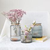 玻璃花瓶 辦公室水培植物瓶 家居擺件 桌面現代簡約插花花器 喵小姐