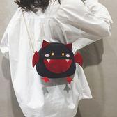 韓版ns卡通小怪獸動物春季側背包可愛軟妹斜背小包包萌   極有家