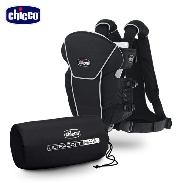 chicco-Magic舒適柔軟抱嬰袋-深邃質黑