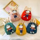 玩偶包 兒童後背包可愛寶寶卡通小熊書包迷你零食包男女童出游包包玩偶包