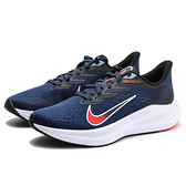 NIKE 慢跑鞋 ZOOM WINFLO 7 深藍橘 網布 運動 男 (布魯克林) CJ0291-400