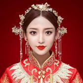 【新年鉅惠】2018新款秀禾服中式新娘頭飾古裝復古鳳冠步搖套裝結婚秀禾服配飾