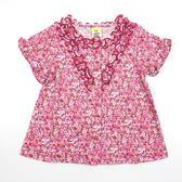 【愛的世界】純棉荷葉領碎花上衣/2~8歲-台灣製- ★春夏上著