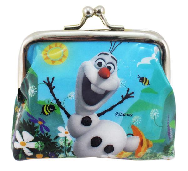 【卡漫城】 雪寶 雙珠扣式 零錢包 ㊣版 冰雪奇緣 Frozen 艾莎 Elsa Olaf Anna 安娜 收納 韓國製