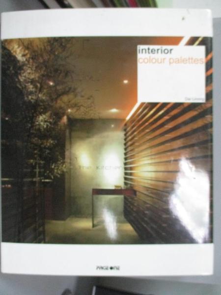 【書寶二手書T1/設計_YFO】Interior Colour Palettes_Linong, Dai/ Liang, Chen Ci (EDT)