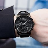 A/X Armani Exchange 亞曼尼 AX2098 潮流個性霧黑三眼腕錶 熱賣中!