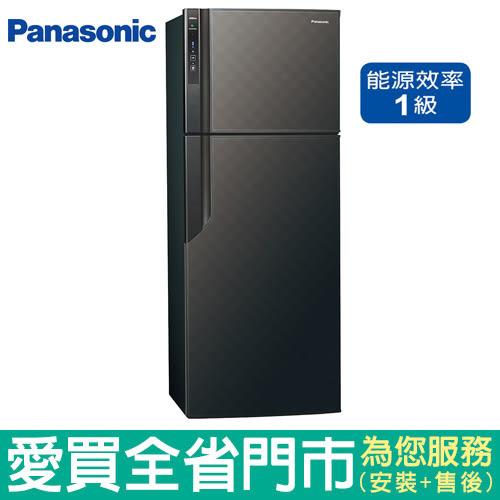 (1級能效)Panasonic國際485L雙門變頻冰箱NR-B489GV-K(星空黑)含配送到府+標準安裝【愛買】