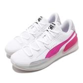 Puma 籃球鞋 Clyde Hardwood 白 粉紅 男鞋 低筒 運動鞋 【PUMP306】 19366303