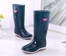 雨鞋 雨鞋女士高筒雨靴春秋長筒中筒水靴加絨保暖防滑膠鞋時尚水鞋