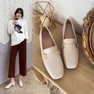 大尺碼女鞋34~43 2020新款英倫風百搭優雅方頭紳士鞋~2色