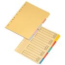 【奇奇文具】雙鶖 1505 隔紙分隔紙A4 五段 25張/包