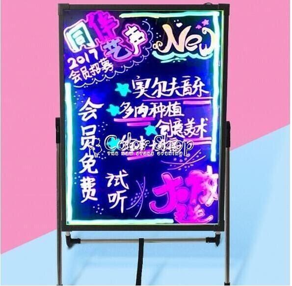 台灣現貨 led電子熒光板手寫發光小黑板店鋪宣傳廣告架廣告牌招牌展示架閃光告板 YYSigo