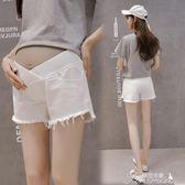 孕婦短褲 孕婦牛仔短褲女夏季薄款低腰夏裝打底褲子懷孕期托腹外穿潮媽  提拉米蘇