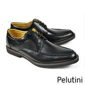 【Pelutini】U-Tip經典德比鞋 黑色(5455-BL)