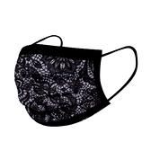 文賀生技醫用口罩 (未滅菌)-三層醫療口罩-酷玩潮流系列-黑色蕾絲 30入/盒
