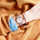 SEIKO 精工★贈皮錶帶 / 7N00-0BL0P.SFQ806P1 / 愛情海施華洛世奇珍珠母貝不鏽鋼手錶 白粉x玫瑰金框 29mm