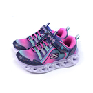 SKECHERS HEART LIGHTS 運動鞋 電燈鞋 有開關 魔鬼氈 童鞋 粉紅/粉藍 302308LNVMT no353