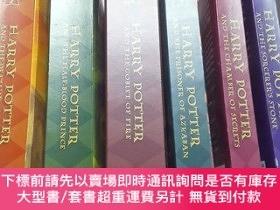 二手書博民逛書店Harry罕見Potter and the Sorcerer s Stone (1~4、6~7冊,缺第5冊,英文原