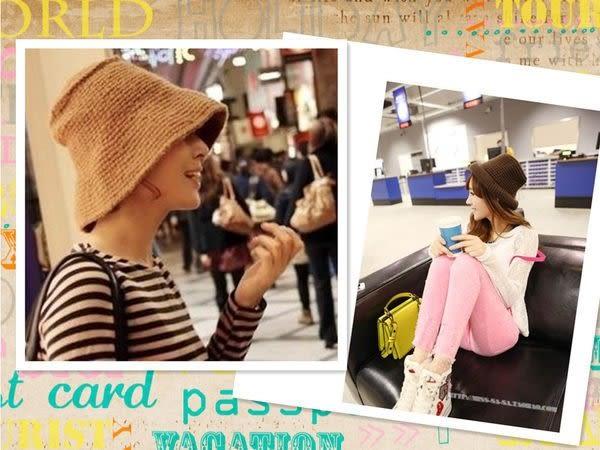 【發現。好貨】韓國首爾秋冬流行漁夫帽 加厚針織帽 粗針織帽 毛線帽 百搭款帽子