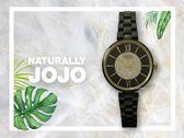 【時間道】NATURALLY JOJO  經典羅馬刻晶鑽仕女腕錶 / 黑面金刻黑陶(JO96864-88F)免運費