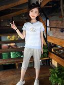 新款時髦套裝女童韓版時尚運動洋氣兒童裝兩件套 QQ980『愛尚生活館』