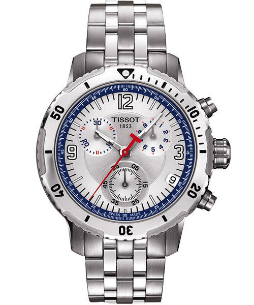 TISSOT 天梭 PRS200 Steven Stamkos 限量競賽計時手錶-銀 T0674171103700