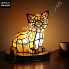 INPHIC-貓彩色玻璃燈罩工藝品裝飾兒童房檯燈純手工小夜燈造型燈造型夜燈_S2626C